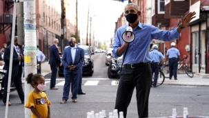 ABD eski Başkanı Obama, megafonla oy isteyerek Biden'a destek oldu