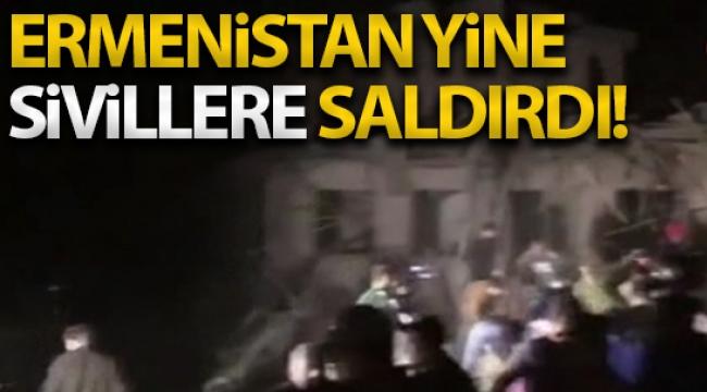 Ermenistan ordusu, Azerbaycan'ın ikinci büyük kenti Gence'ye füze saldırısı düzenledi