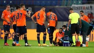 Leipzig maçında sakatlanan Başakşehir'li Caiçara, hastaneye kaldırıldı