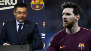 Messi ile kriz yaşayan Barcelona Başkanı Bartomeu istifa etti