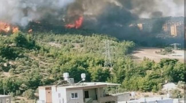 Son Dakika... Hatay ın Belen İlçesinde Büyük Yangın
