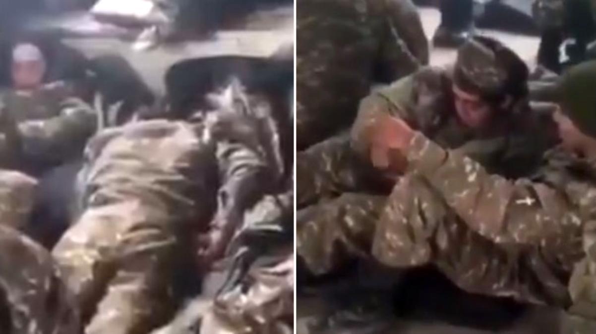 Ermenistan ordusunun savaş durumundaki içler acısı hali görüntülere yansıdı