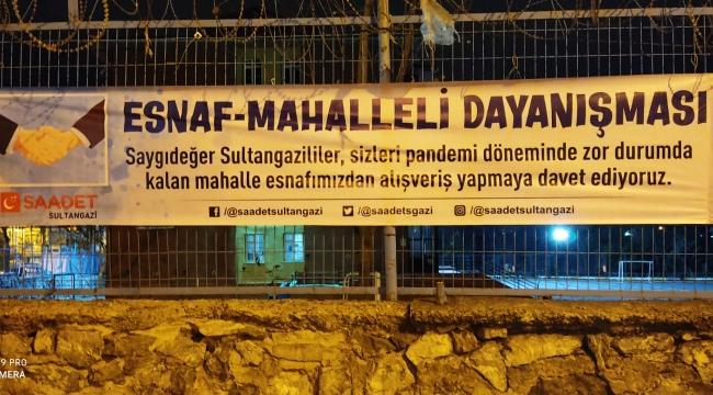 Saadet Sultangazi'de Esnaf-Mahalleli Dayanışması