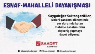 """Saadet Sultangazi'de Esnaf-Mahalleli Dayanışması"""" Kampanyası"""