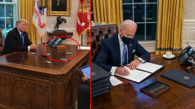 ABD Başkanı Joe Biden, Trump'ın Oval Ofis'teki