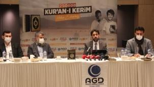 AGD İstanbul Şubesinden 250 bin Şehit için 250 bin Kuranı Kerim hediye edecek