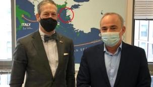 İsrail'li bakanın odasındaki skandal harita ortaya çıktı: Gökçeada ve Bozcaada'yı Yunanistan'a vermişler