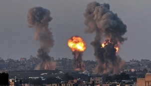 İsrail güçleri, Gazze'ye hava saldırılarına 2 saatlik aranın ardından tekrar başladı
