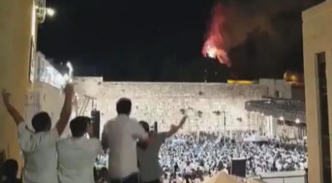 Mescid-i Aksa'da alevler içinde feryat sesleri yükseldi, Yahudiler sevinç çığlıkları attı!