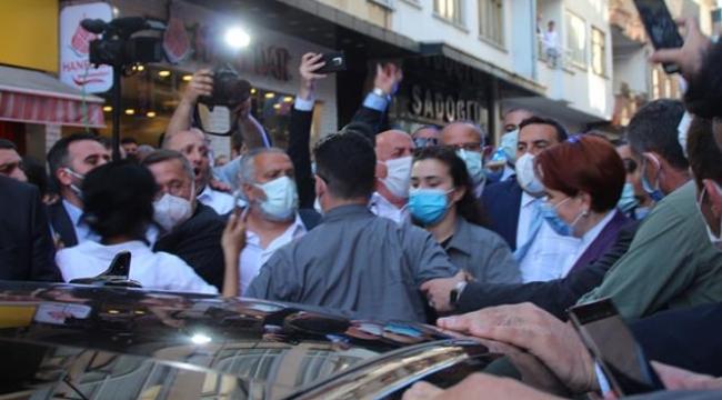 Rize'de protesto edilen Meral Akşener'le ilgili provokasyon çağrısı: Taşlayın, öldürün pompalı tüfekle