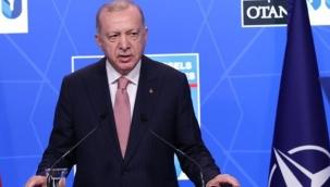 """Biden'la yaptıkları görüşmenin olumlu geçtiğini belirten Erdoğan, """"ABD, YPG/PKK'ya desteğini sonlandırmalı."""