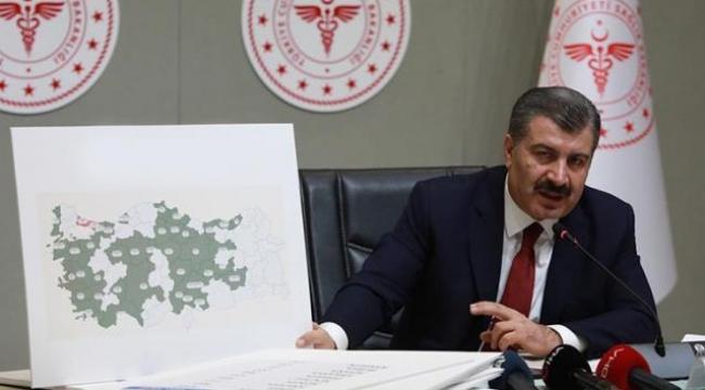 Sağlık Bakanı Koca, illere göre haftalık vaka haritasını paylaştı! İstanbul'daki düşüş sürüyor