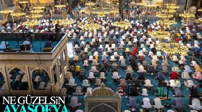 Ayasofya Camii, ziyaretçilerin akınına uğradı