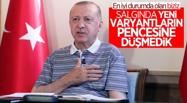 Cumhurbaşkanı Erdoğan, AK Parti teşkilatları ile bayramlaşma programına katıldı