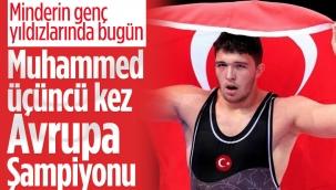 Genç Milli güreşçi Muhammed Hamza Bakır Avrupa Şampiyonu