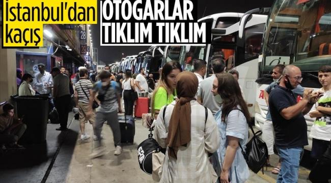İstanbul otogarlarında bayram yoğunluğu