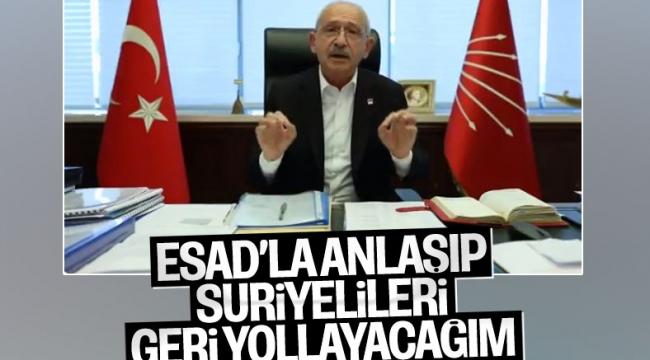Kemal Kılıçdaroğlu: Suriyelileri ülkesine göndereceğiz