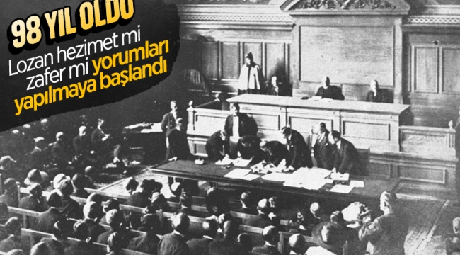 Lozan Antlaşması 98 yaşında