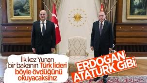 Nikos Dendias: Cumhurbaşkanı Erdoğan önemli bir lider