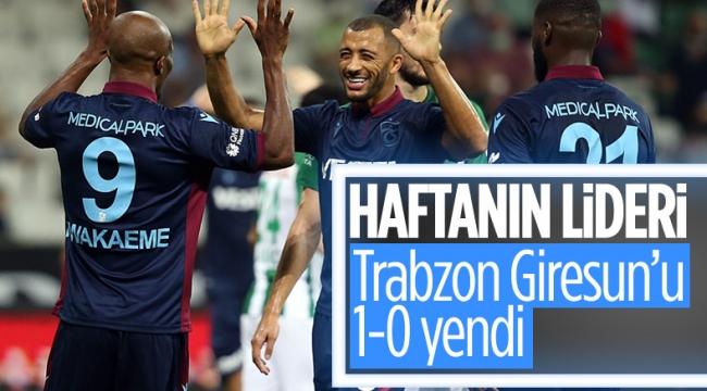 Trabzonspor deplasmanda Giresunspor'u yendi