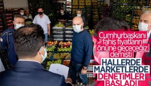 Erdoğan'ın sözleri sonrası market ve hallerde denetimler başladı