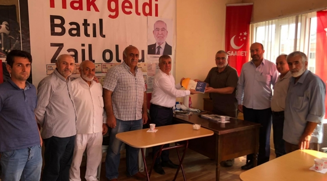 Ramis Topal'dan Merzifon Saadet Partisi'ne ziyaret