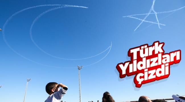 Türk Yıldızları TEKNOFEST'te: Gökyüzüne Türk Bayrağı çizildi