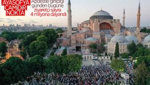 Ayasofya Camii'ni 3,5 milyondan fazla kişi ziyaret etti