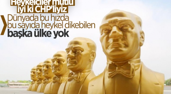 CHP'li Mezitli Belediyesi'nden heykel açılışı