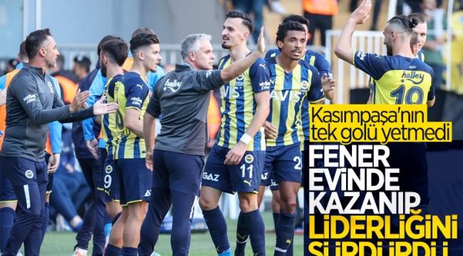 Fenerbahçe, Kasımpaşa'yı zor da olsa mağlup etti