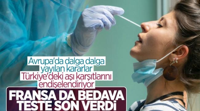 Fransa'da koronavirüs testleri ücretli oldu