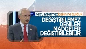 Kemal Kılıçdaroğlu'nun Anayasa'da ilk 3 maddeyi değiştirelim açıklaması