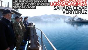 MSB: Yunanistan'a sahada gerekli karşılık veriliyor