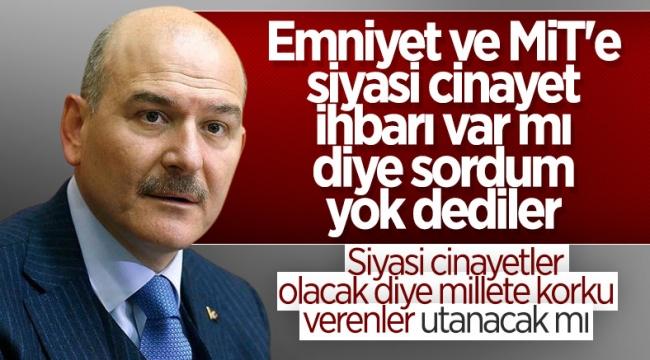 Süleyman Soylu'dan 'siyasi cinayetler' açıklaması: Bu FETÖ taktiğidir