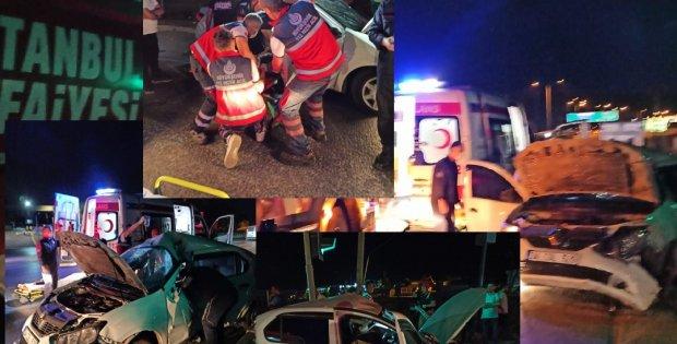 Sultangazi Arnavutköy yolunda trafik kazası